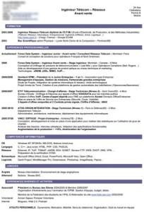 Exemple de CV Original  Modèle de CV Design Maxi CV