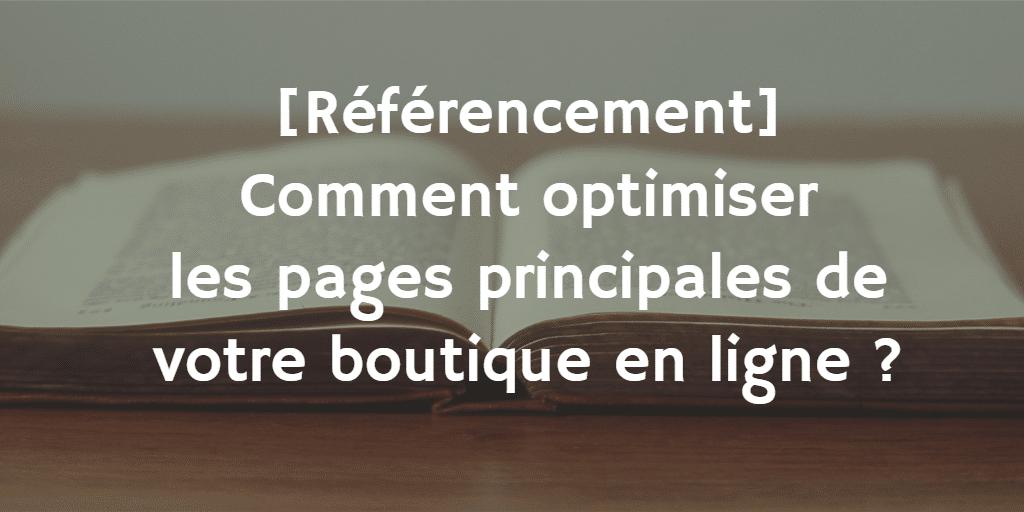 Comment optimiser les principales pages de votre boutique ?