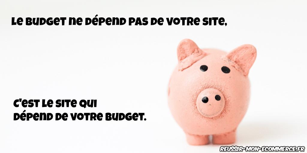 Le budget ne dépend pas de votre site