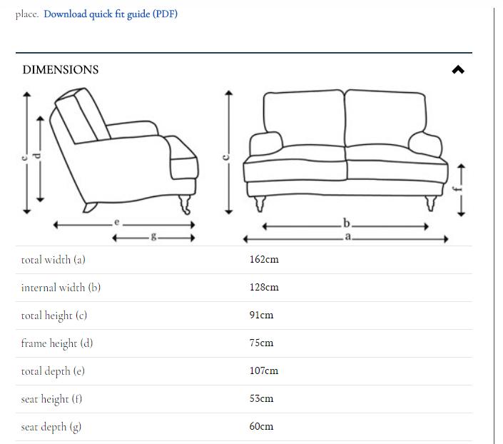 Fiche technique de sofa.com