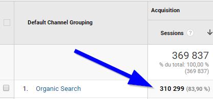 310 000 visiteurs via Google