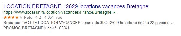 Troisième exemple de titre réussi pour Google