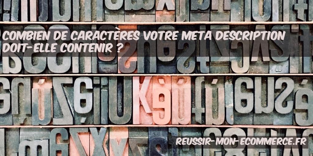 Combien de caractères pour votre meta description ?