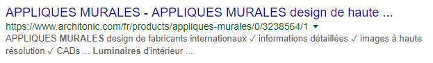 Premier exemple de meta description réussie