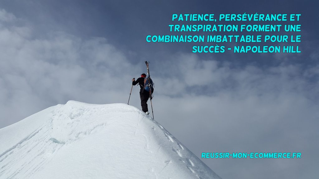 Patience, persévérance et transpiration forment une combinaison imbattable pour le succès