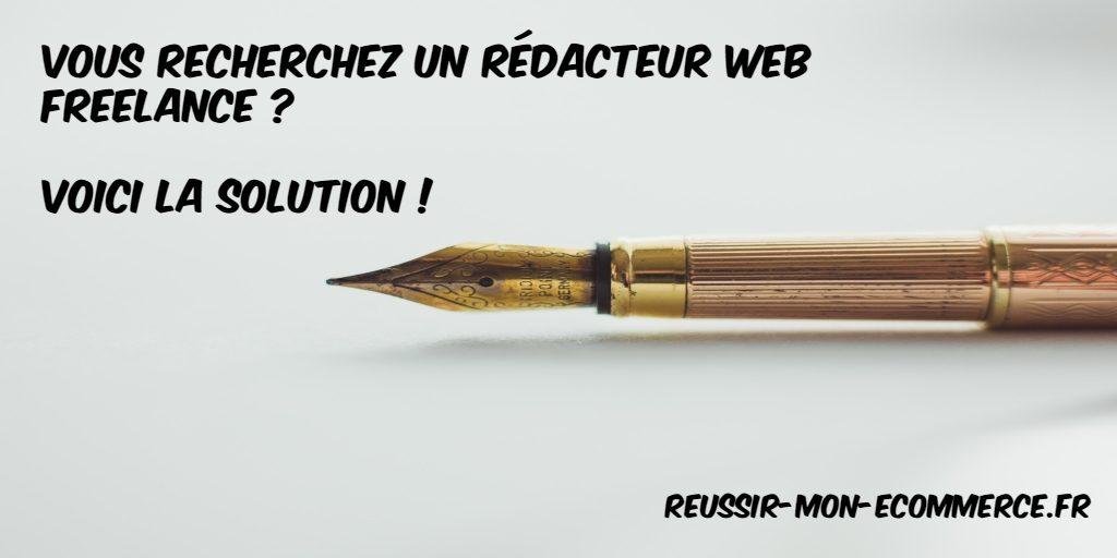 Vous recherchez un rédacteur web freelance? Voici la solution!
