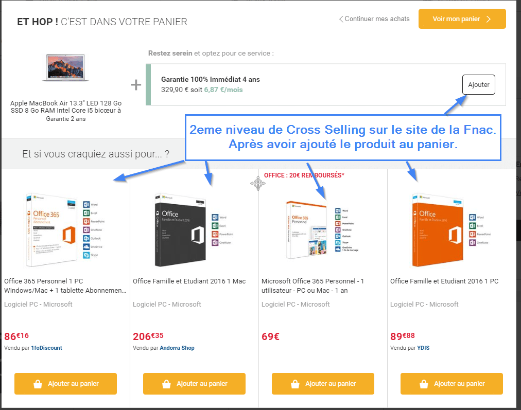 Deuxième niveau de cross selling sur le site de la Fnac