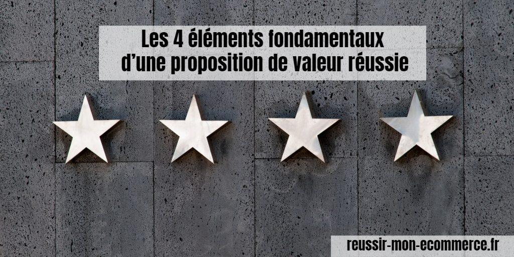 Les 4 éléments fondamentaux d'une proposition de valeur réussie