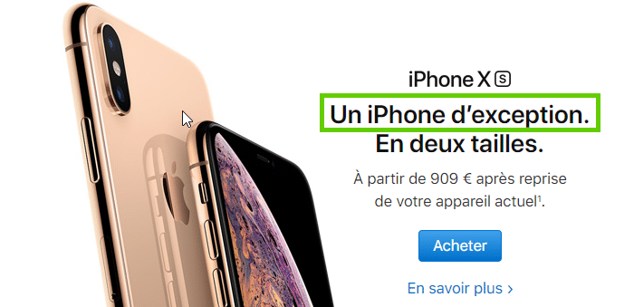 La nouveauté: le maître mot d'Apple