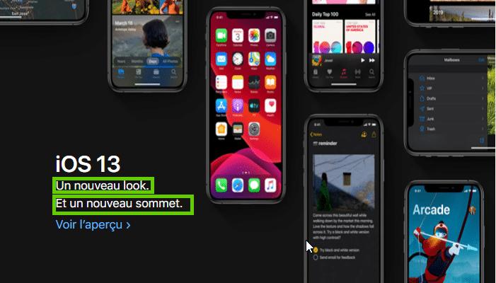 Encore de la nouveau pour Apple