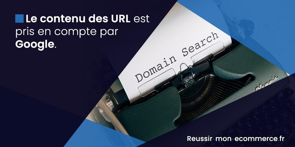 Le contenu des URL est pris en compte par Google.
