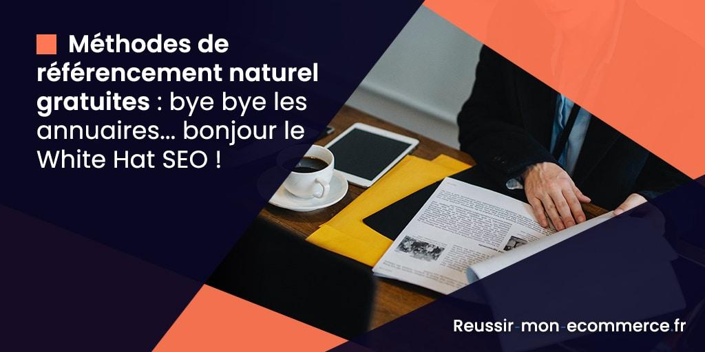 Méthodes de référencement naturel gratuites : bye bye les annuaires... bonjour le White Hat SEO !