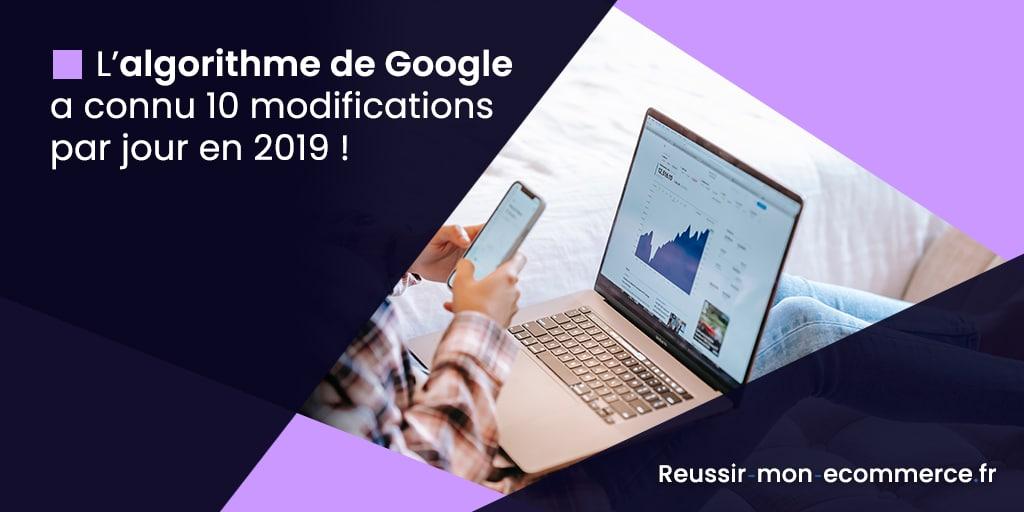 L'algorithme de Google a connu 10 modifications par jour en 2019 !