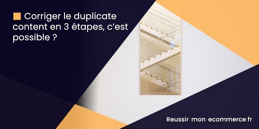 Corriger le duplicate content en 3 étapes, c'est possible ?